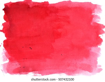 Burgundy saturated watercolor background, luscious palette. Abstract canvas with paper texture.