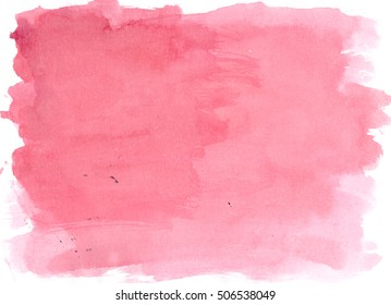 Burgundy watercolor background, luscious palette. Abstract canvas with paper texture.
