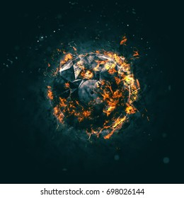 Burning Circle - Carbon - Isolated on a dark background