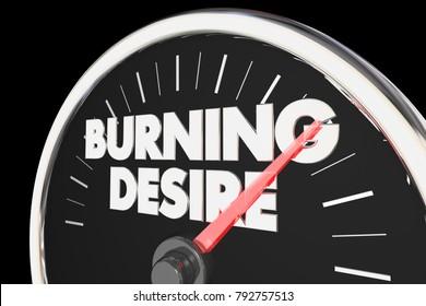 Burning Desire Speedometer Passion Wants Needs 3d Illustration