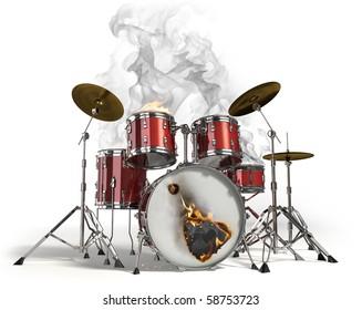 Drum Fire Stock Illustrations, Images & Vectors   Shutterstock