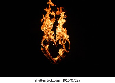 Burning letters I love you