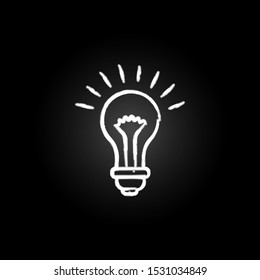 burning light bulb neon icon. Elements of creative idea set. Simple icon for websites, web design, mobile app, info graphics