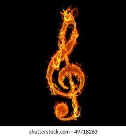 Burning Music Key