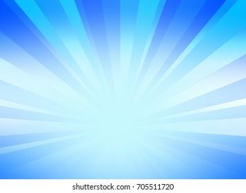 burst background for presentation with blue color