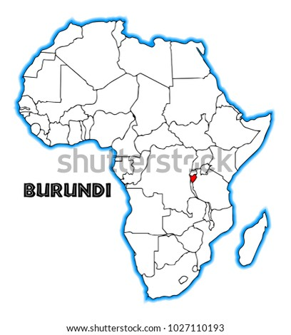 Burundi Outline Inset Into Map Africa Stockillustration 1027110193 ...