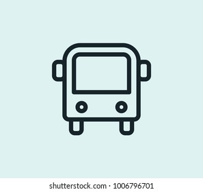 Bus icon line isolated on clean background. Autobus concept drawing icon line in modern style.  illustration for your web site mobile logo app UI design.