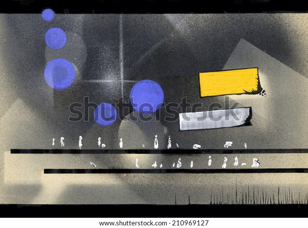 Bus stop. Abstract geometric background.