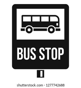 Bus stop traffic sign icon. Simple illustration of bus stop traffic sign icon for web design isolated on white background