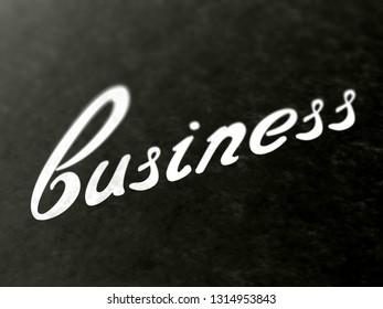 Business. 3D Illustration.