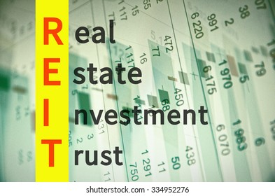 Business acronym REIT as Real estate investment trust.