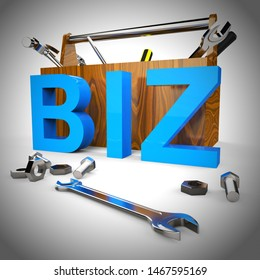 Business or biz concept icon represents trade and enterprise in a commercial enterprise. Companies or entrepreneurs in the workplace - 3d illustration