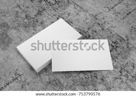 Royalty Free Stock Illustration Of Business Card 3 D On Concrete