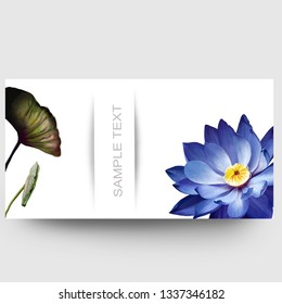 Business card design with a Lotus flower and sample text