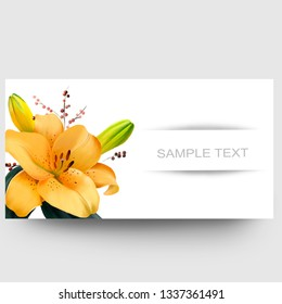 Business card design with yellow Fleur-de-Lis and sample text