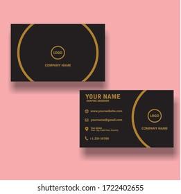 business card elegant design in corel draw
