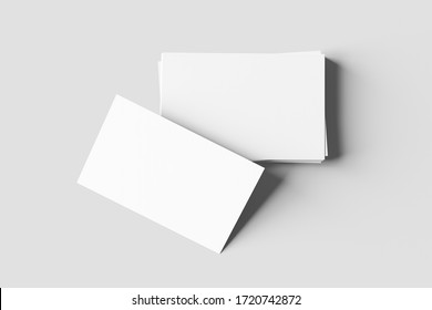 Business card mock up - 3d rendering
