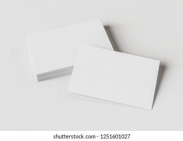 Business card mockup isolated on white background 3d rendering