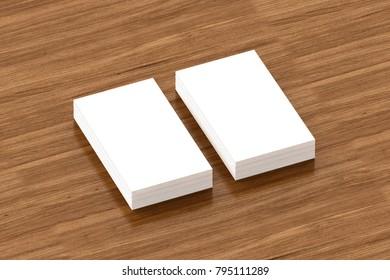 Business Cards Blank Mockup Template 3 D Stock Illustration