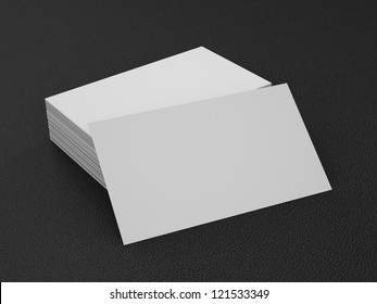Business cards blank mockup - template - leather background