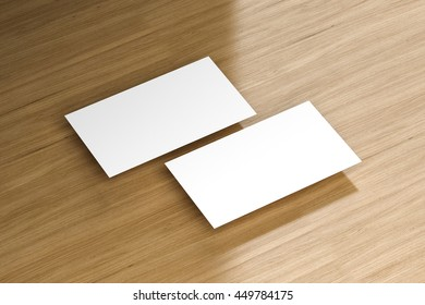 Business cards blank mockup template 3 d stock illustration business cards blank mockup template 3d illustration accmission Choice Image
