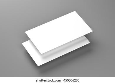 Business cards blank mockup - template, 3D illustration