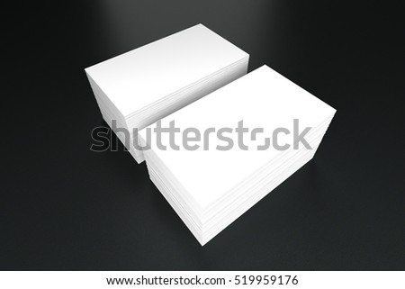Business cards blank mockup template 3 d stock illustration business cards blank mockup template 3d illustration wajeb Gallery