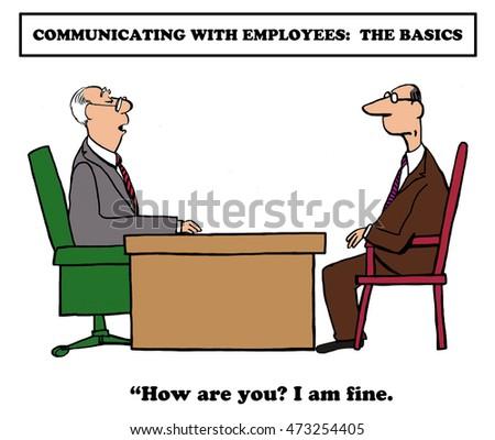 business cartoon about communication basicsのイラスト素材 473254405