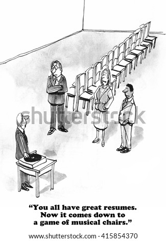 Business Cartoon About Frustration Looking Job Stock Illustration