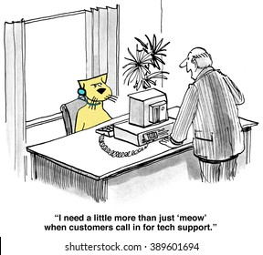 Business cartoon about poor customer service.