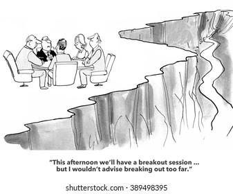 Business cartoon about teamwork.