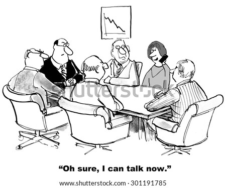 business cartoon meeting that progress businesswoman stock