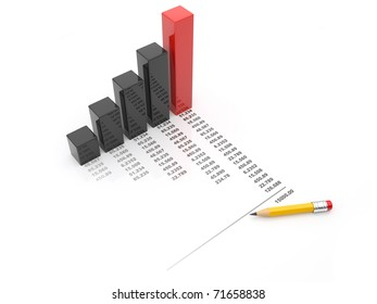 Business chart 3d. diagram isolated