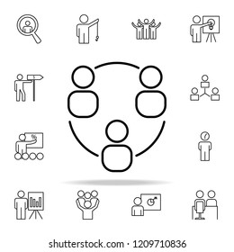 business communication icon. Business Organisation icons universal set for web and mobile