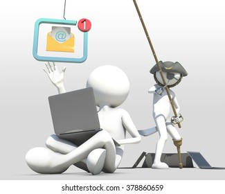 business concept of internet scam with phishing