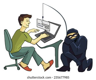 Business concept of internet scam with phising, steal your password