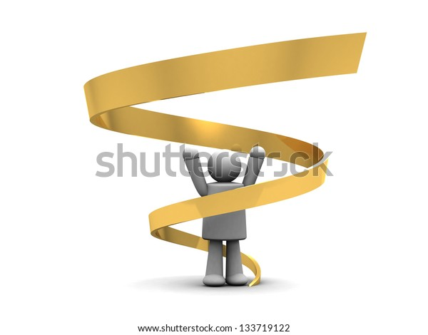 Business concept - on white background