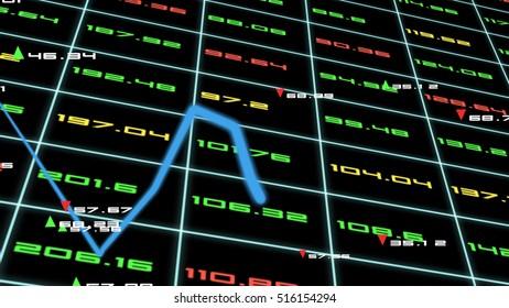 business concept,stock market data