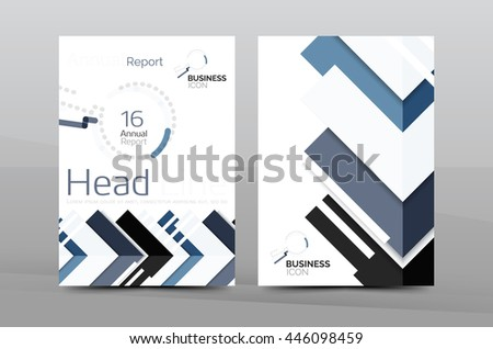 Business Cover Page Design Brochure Flyer Layout Abstract Presentation Background Poster A4 Size