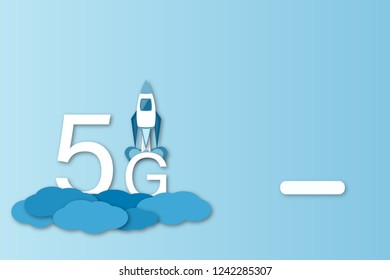 Business and finance. Illustration for 5G network, data analysis or cloud technology.