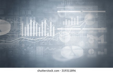 Business financial background image with profits and gains