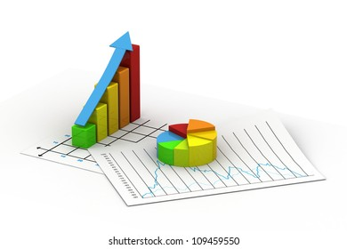 Business graph  and Pie chart