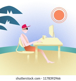 Business Holidays Illustration