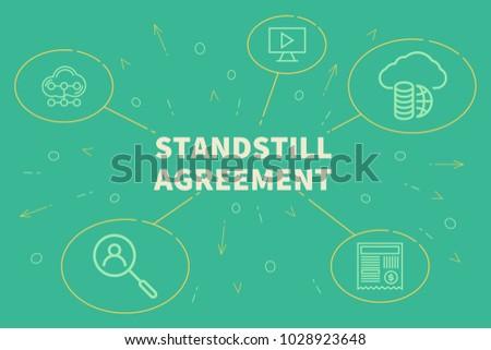 Business Illustration Showing Concept Standstill Agreement Stock