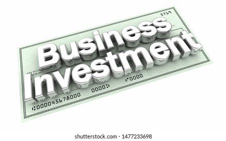 Business Investment Check Words 3d Illustration