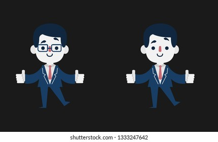 Business man with glasses