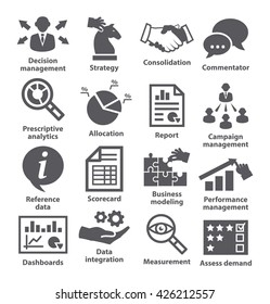 Business management icons.