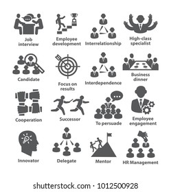Business management icons Pack 33