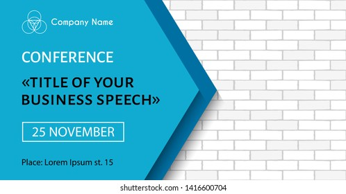 Business meeting flyer. Banner template for business conference announcement. Raster version