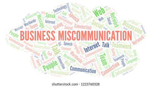 Business Miscommunication word cloud.
